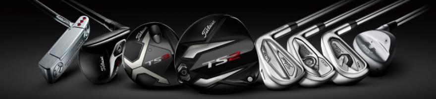 Golfudstyr - jernsæt, driver, golfkølle, hybrid, wedge, putter